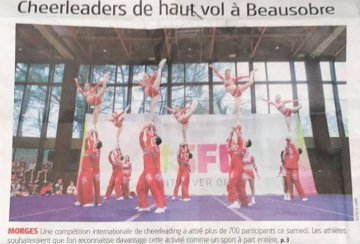 Zeitungsbericht Shadow Cheer All Stars